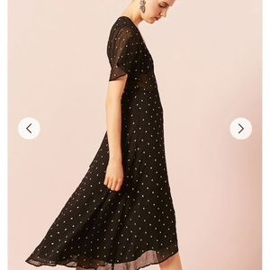 Forever 21 Black wrap dress, with gold specks